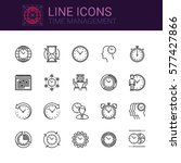 simple icons set of time... | Shutterstock .eps vector #577427866