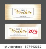 gift voucher design template... | Shutterstock .eps vector #577443382