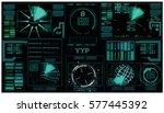 interface fx. fx magic....   Shutterstock .eps vector #577445392