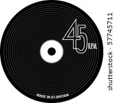 vinyl record with grooves and... | Shutterstock .eps vector #57745711