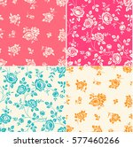 set of seamless patterns with... | Shutterstock .eps vector #577460266