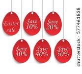easter sale background poster... | Shutterstock .eps vector #577461838
