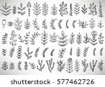 big set of black hand drawn... | Shutterstock .eps vector #577462726