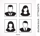 simple avatar icons of various... | Shutterstock .eps vector #577463476