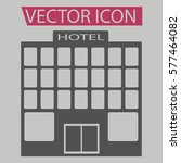 hotel icon isolated sign symbol ... | Shutterstock .eps vector #577464082