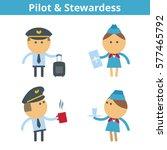 occupations cartoon character...   Shutterstock .eps vector #577465792