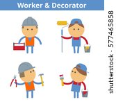 occupations cartoon character...   Shutterstock .eps vector #577465858