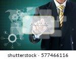 business man touching on... | Shutterstock . vector #577466116