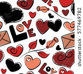 Love Symbols In Red  Black And...