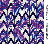 exotic seamless pattern with... | Shutterstock .eps vector #577469842