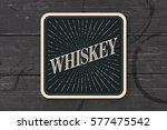 beverage coaster for glass with ... | Shutterstock .eps vector #577475542