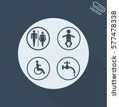 toilet pictogram   Shutterstock .eps vector #577478338