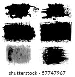 vector ink brush set   Shutterstock .eps vector #57747967