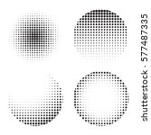 set of circle halftone texture... | Shutterstock .eps vector #577487335