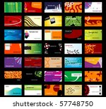 set of various business cards....   Shutterstock .eps vector #57748750