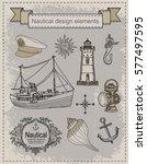 nautica. vintage set | Shutterstock .eps vector #577497595