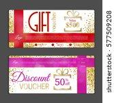 gift voucher template. can be...   Shutterstock .eps vector #577509208