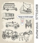 retro transport. set  | Shutterstock .eps vector #577510408