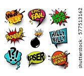 comic text sound effects.... | Shutterstock .eps vector #577513162