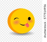 cute funny smile jolly face... | Shutterstock .eps vector #577514956