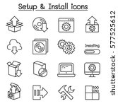 setup  configuration ... | Shutterstock .eps vector #577525612