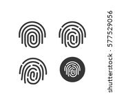fingerprint icons set vector ... | Shutterstock .eps vector #577529056