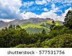 green cloudy mountain hills and ... | Shutterstock . vector #577531756