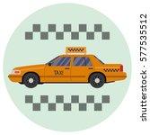 taxi car. flat vector...   Shutterstock .eps vector #577535512