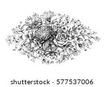 vintage floral ornament  hand... | Shutterstock .eps vector #577537006