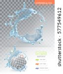 water splash with transparency  ... | Shutterstock .eps vector #577549612