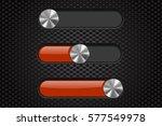 interface slider bar. orange...