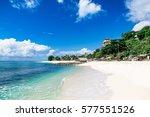 tropical beach in bali | Shutterstock . vector #577551526