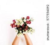 Wildflowers Bouquet In Girl's...