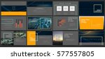 original presentation templates ... | Shutterstock .eps vector #577557805