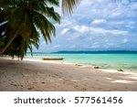 paradisaical beach in havelock... | Shutterstock . vector #577561456