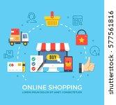 Online Shopping. Flat Design...