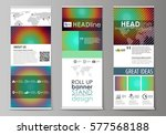 roll up banner stands  abstract ... | Shutterstock .eps vector #577568188