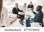 successful business people are... | Shutterstock . vector #577573042