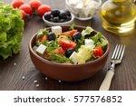 Bowl Of Fresh Salad With Feta...