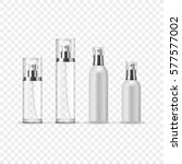 set of perfume spray bottles in ... | Shutterstock .eps vector #577577002