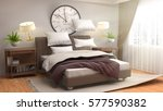 zero gravity furniture hovering ... | Shutterstock . vector #577590382