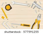 construction tools and home... | Shutterstock .eps vector #577591255