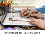accounting  | Shutterstock . vector #577594246