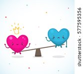 cute hearts  the relationship... | Shutterstock .eps vector #577595356