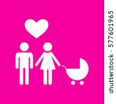 family symbol with pram and... | Shutterstock .eps vector #577601965