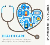 health care concept in modern... | Shutterstock .eps vector #577602886