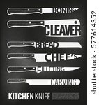 monochrome kitchen knives
