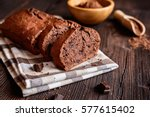 delicious homemade chocolate... | Shutterstock . vector #577615402