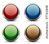 vector glossy buttons | Shutterstock .eps vector #57761848
