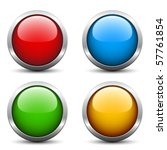 vector glossy buttons | Shutterstock .eps vector #57761854